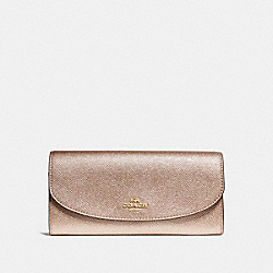SLIM ENVELOPE WALLET - F23255 - ROSE GOLD/LIGHT GOLD
