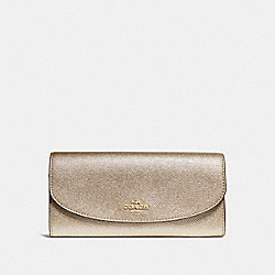 SLIM ENVELOPE WALLET - f23255 - LIGHT GOLD/PLATINUM