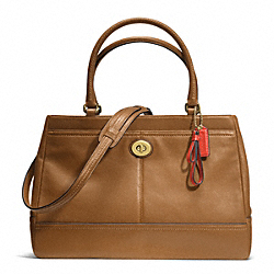 COACH F23268 - PARK LEATHER LARGE CARRYALL BRASS/BRITISH TAN
