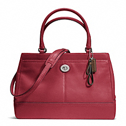 COACH F23268 Park Leather Large Carryall SILVER/BLACK CHERRY