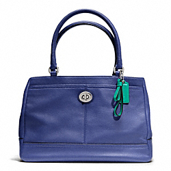 COACH F23280 - PARK LEATHER CARRYALL SILVER/FRENCH BLUE