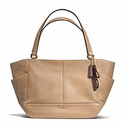 COACH F23284 - PARK LEATHER CARRIE TOTE BRASS/SAND