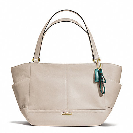 COACH f23284 PARK LEATHER CARRIE BRASS/STONE