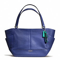 COACH F23284 Park Leather Carrie SILVER/FRENCH BLUE