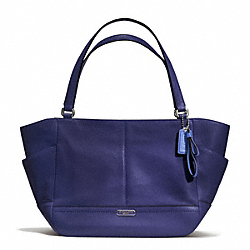 COACH F23284 - PARK LEATHER CARRIE TOTE SILVER/INDIGO