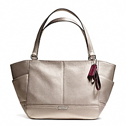 COACH F23284 - PARK LEATHER CARRIE TOTE SILVER/PEWTER