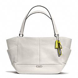 COACH F23284 - PARK LEATHER CARRIE TOTE SILVER/PEARL