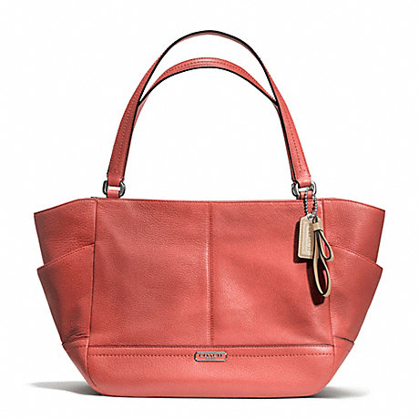 COACH f23284 PARK LEATHER CARRIE SILVER/SIENNA