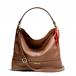 PARK LEATHER HOBO - f23293 - BRASS/BRITISH TAN