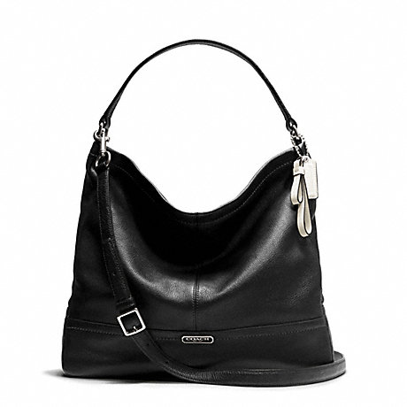 COACH F23293 - PARK LEATHER HOBO - SILVER BLACK  24c72b783d498