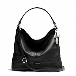 PARK LEATHER HOBO - f23293 - SILVER/BLACK