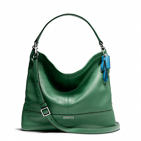 COACH f23293 PARK LEATHER HOBO SILVER/IVY