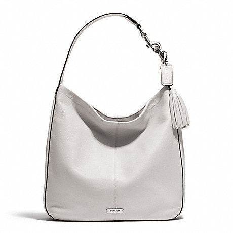 COACH F23309 - AVERY LEATHER HOBO - SILVER PEARL  e41cc843c41c7
