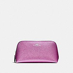 COACH F23332 Cosmetic Case 17 SILVER/METALLIC LILAC