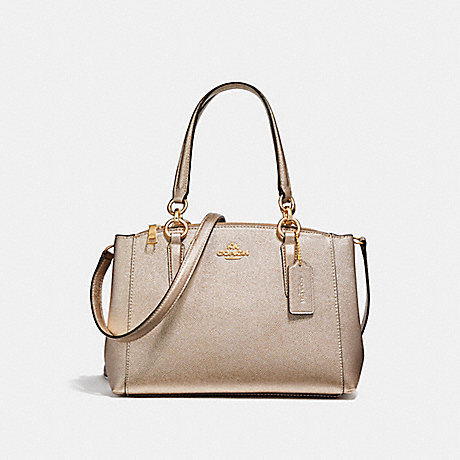 COACH f23337 MINI CHRISTIE CARRYALL LIGHT GOLD/PLATINUM