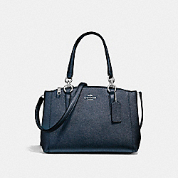 MINI CHRISTIE CARRYALL - f23337 - SILVER/METALLIC NAVY