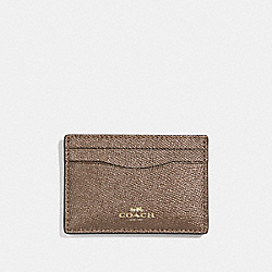 COACH F23339 Flat Card Case LIGHT GOLD/PLATINUM