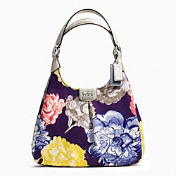 COACH F23351 - MADISON FLORAL MAGGIE SHOULDER BAG SILVER/NAVY MULTI