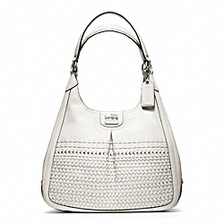 COACH F23385 Madison Woven Maggie SILVER/WHITE