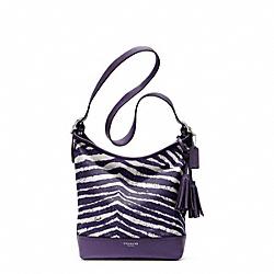 COACH F23410 Zebra Print Duffle SILVER/MARINE