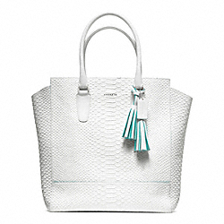 COACH F23416 - PYTHON NORTH/SOUTH TANNER TOTE ONE-COLOR