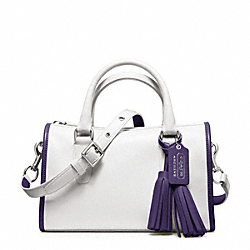 COACH F23418 - ARCHIVAL TWO TONE SATCHEL SILVER/CHALK/MARINE