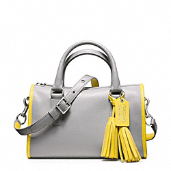 COACH F23418 Archival Two Tone Satchel SILVER/GREY/LEMON