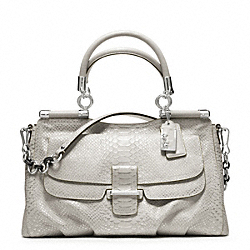COACH F23433 - MADISON PINNACLE EMBOSSED METALLIC PYTHON CARRIE ONE-COLOR
