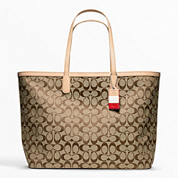 COACH F23466 - WEEKEND SIGNATURE C LARGE DOGLEASH TOTE ONE-COLOR