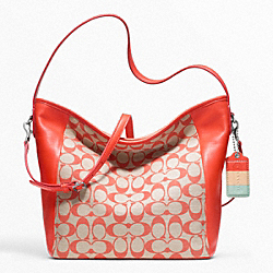 WEEKEND PRINTED SIGNATURE SHOULDER BAG - f23488 - F23488SIGCO