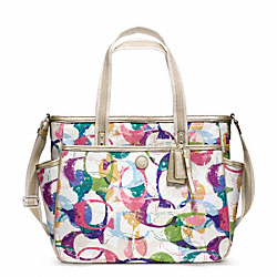 COACH F23491 Stamped C Baby Bag Tote SILVER/MULTICOLOR