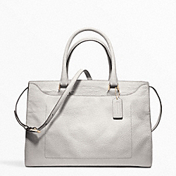 PINNACLE ELEVATED GOAT LEIGHTON FRAME CARRYALL COACH F23501