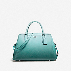 SMALL MARGOT CARRYALL - f23507 - SILVER/SEA GREEN