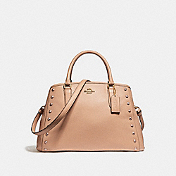 COACH F23509 - SMALL MARGOT CARRYALL WITH LACQUER RIVETS IMITATION GOLD/NUDE PINK