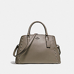 SMALL MARGOT CARRYALL WITH LACQUER RIVETS - f23509 - SILVER/FOG
