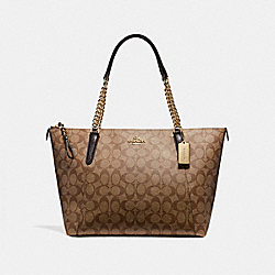 COACH F23526 - AVA CHAIN TOTE LIGHT GOLD/KHAKI