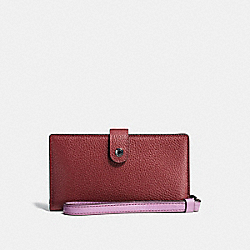 COACH F23528 - PHONE WRISTLET IN COLORBLOCK WINE MULTI/DARK GUNMETAL