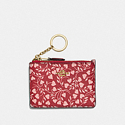 COACH F23529 Mini Skinny Id Case With Love Leaf Print LI/LOVE LEAF
