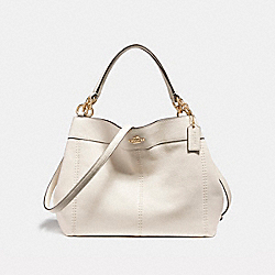 COACH F23537 Small Lexy Shoulder Bag IMITATION GOLD/CHALK