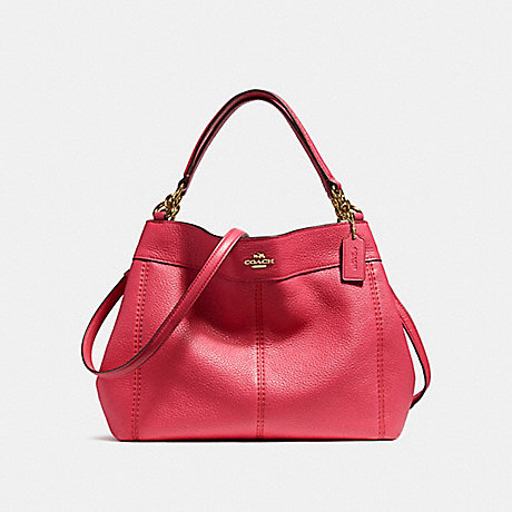 COACH f23537 SMALL LEXY SHOULDER BAG IMITATION GOLD/TRUE RED