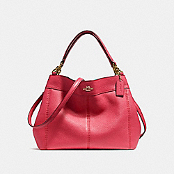 SMALL LEXY SHOULDER BAG - f23537 - IMITATION GOLD/TRUE RED