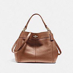 COACH F23537 Small Lexy Shoulder Bag IMITATION GOLD/SADDLE 2