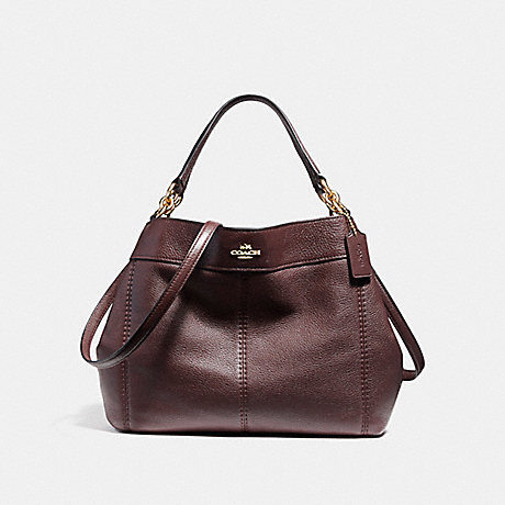 COACH f23537 SMALL LEXY SHOULDER BAG IMITATION GOLD/OXBLOOD 1