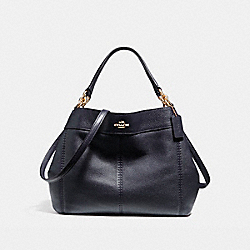 COACH F23537 Small Lexy Shoulder Bag IMITATION GOLD/MIDNIGHT