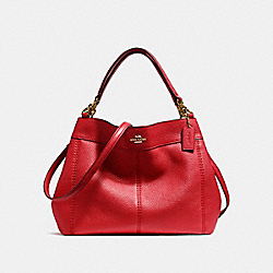 COACH F23537 Small Lexy Shoulder Bag LIGHT GOLD/DARK RED