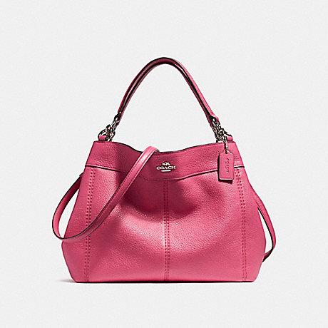 COACH f23537 SMALL LEXY SHOULDER BAG SILVER/MAGENTA