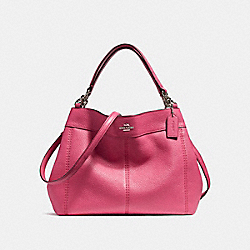 COACH F23537 Small Lexy Shoulder Bag SILVER/MAGENTA