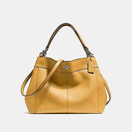 COACH f23537 SMALL LEXY SHOULDER BAG SILVER/MUSTARD 2