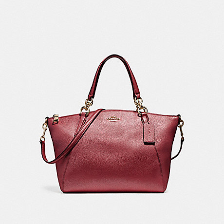 COACH f23538 SMALL KELSEY SATCHEL LIGHT GOLD/METALLIC CHERRY
