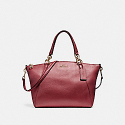 SMALL KELSEY SATCHEL - f23538 - LIGHT GOLD/METALLIC CHERRY